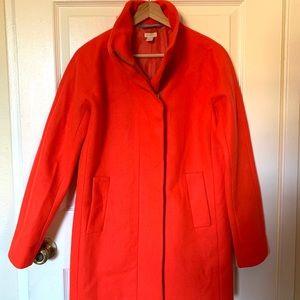 J.CREW COCOON Wool Blend Coat in Orange Sz 2